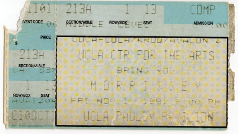 Morrissey 1 11 1991