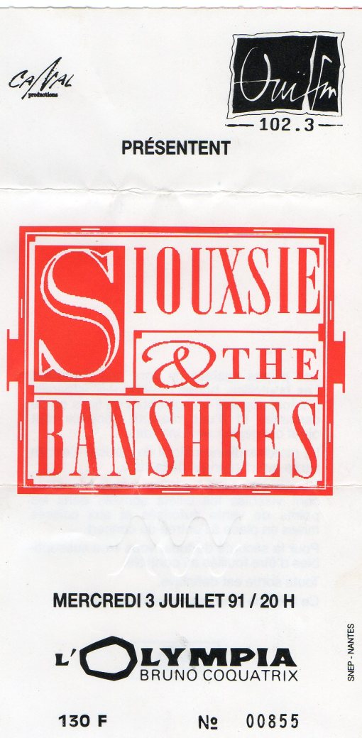 Siouxsie & The Banshees 3 7 1991001