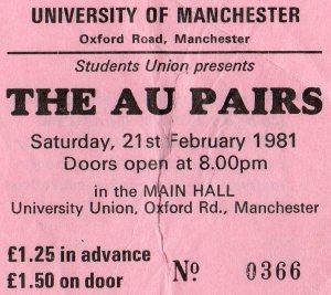The Au Pairs 21 2 1981001