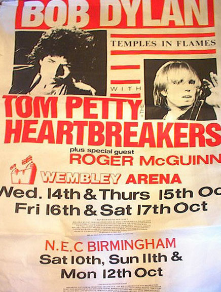 bob dylan 12 10 1987 birmingham poster