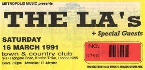 The La's 16 3 1991001