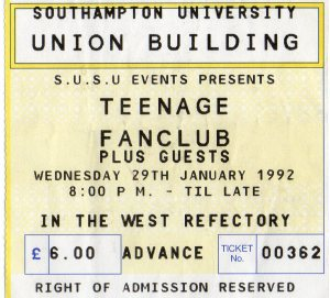 Teenage Fan Club 29 1 1992