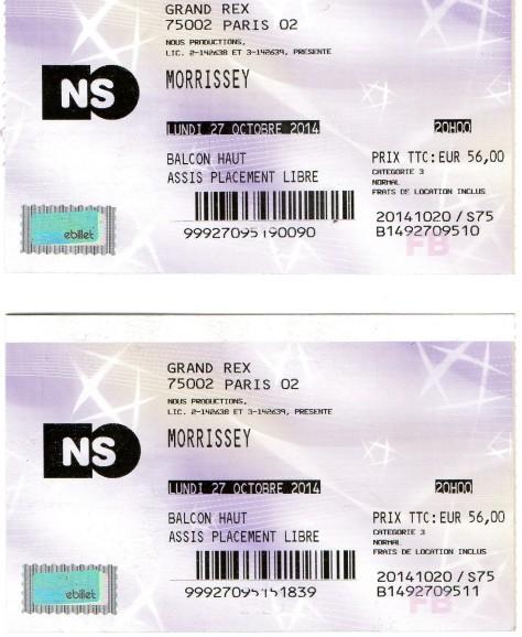 Morrissey 27 10 2014