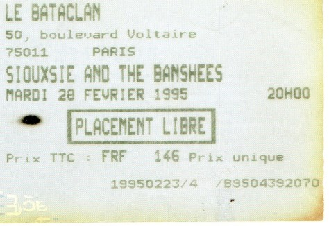 Siouxsie & The Banshees 28 2 1995