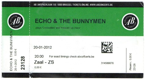 Echo & The Bunnymen 20 1 2012