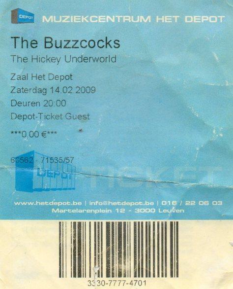 Buzzcocks 14 2 2009