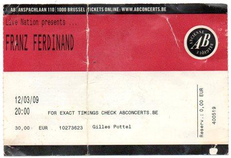 Franz Ferdinand 12 3 2009