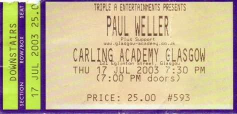 Paul Weller 17 7 2003