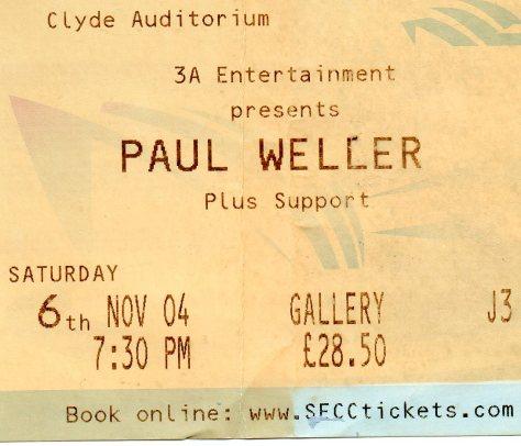 Paul Weller 6 11 2004