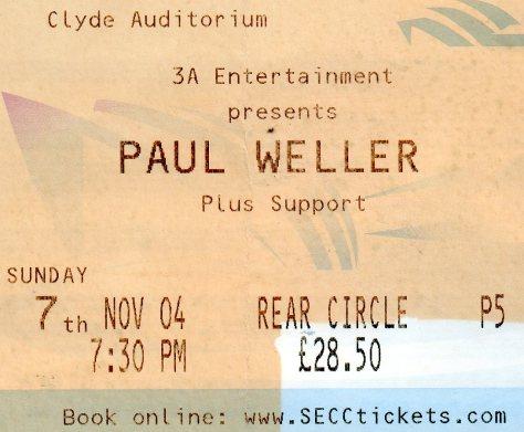 Paul Weller 7 11 2004