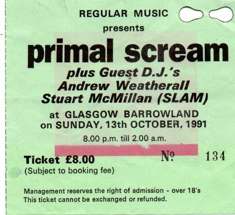 Primal Scream 13 10 1991