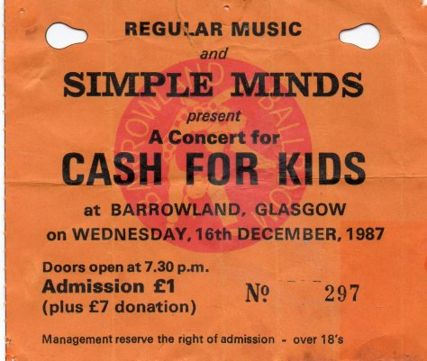 Simple Minds 16 12 1987