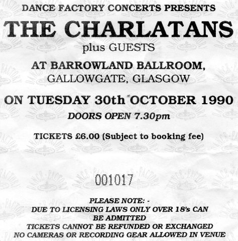 The Charlatans 30 10 1990