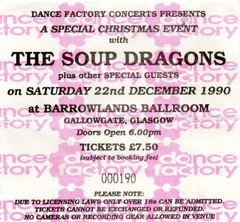 The Soup Dragons 22 12 1990