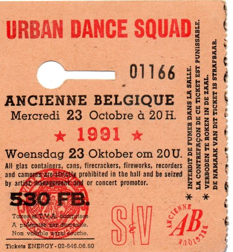 Urban Dance Squad 23 10 1991