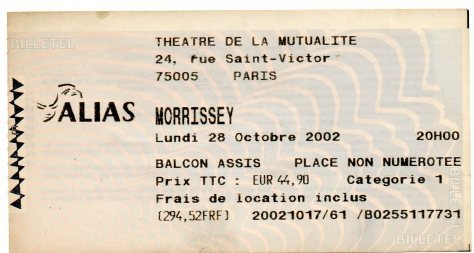 Morrissey 28 10 2002