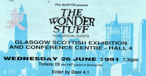 The Wonder Stuff 26 6 1991