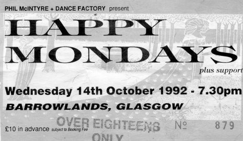 Happy Mondays 14 10 1992