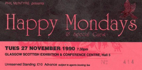 Happy Mondays 27 11 1990