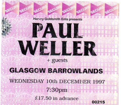 Paul Weller 10 12 1997
