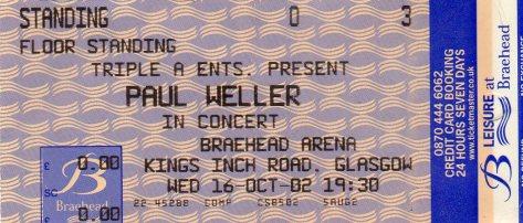 Paul Weller 16 10 2002